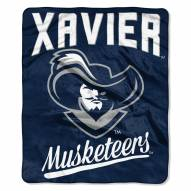 Xavier Musketeers Alumni Raschel Throw Blanket