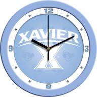 Xavier Musketeers Baby Blue Wall Clock
