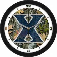 Xavier Musketeers Camo Wall Clock
