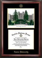 Xavier Musketeers Gold Embossed Diploma Frame with Lithograph