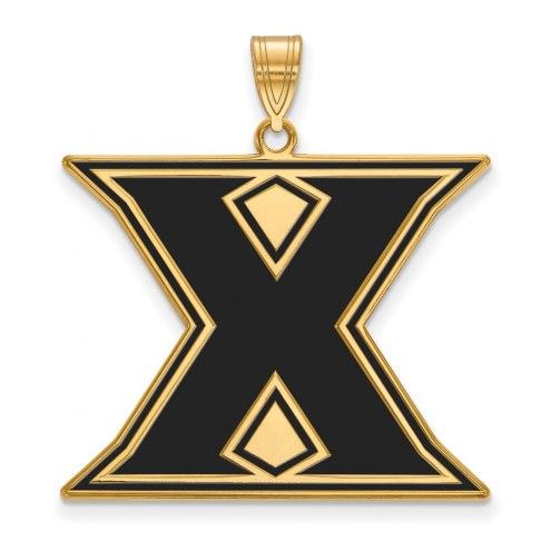 Xavier Musketeers Sterling Silver Gold Plated Extra Large Enameled Pendant
