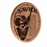 Xavier Musketeers Laser Engraved Wood Clock