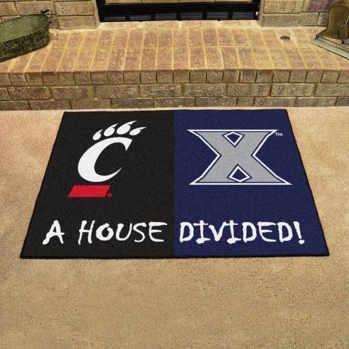 Xavier Musketeers/Cincinnati Bearcats House Divided Mat