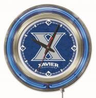 Xavier Musketeers Neon Clock