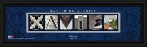 Xavier Musketeers Personalized Campus Letter Art