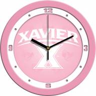 Xavier Musketeers Pink Wall Clock
