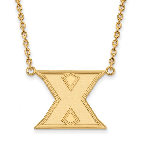 Xavier Musketeers Sterling Silver Gold Plated Large Pendant Necklace