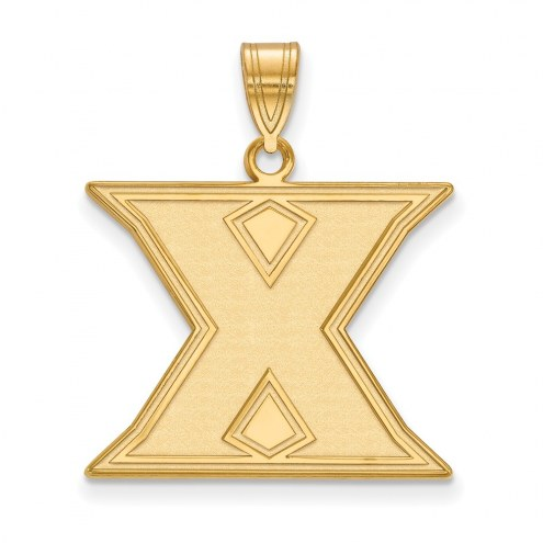 Xavier Musketeers Sterling Silver Gold Plated Large Pendant