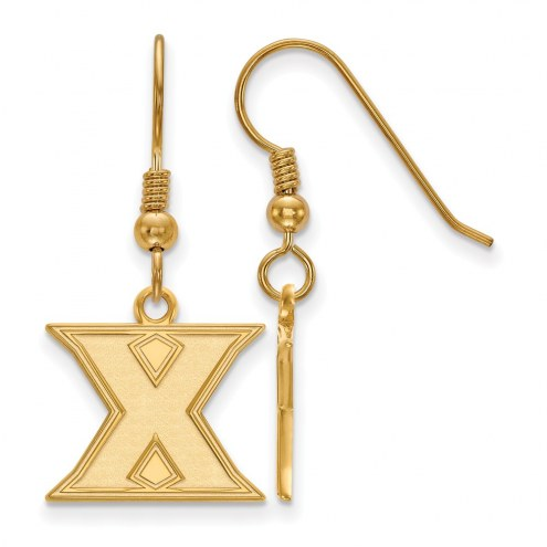 Xavier Musketeers Sterling Silver Gold Plated Small Dangle Earrings