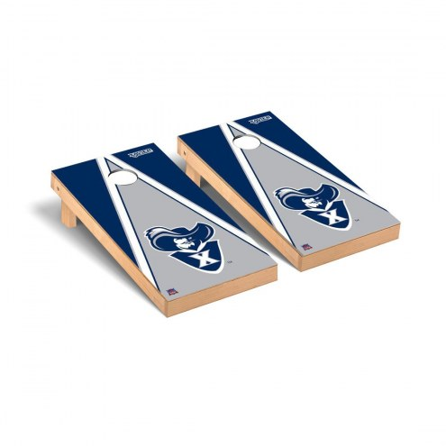 Xavier Musketeers Triangle Cornhole Game Set