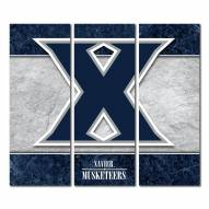 Xavier Musketeers Triptych Double Border Canvas Wall Art