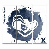 Xavier Musketeers Triptych Watercolor Canvas Wall Art