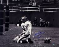 "YA Tittle Signed Agony of Defeat Blood 16 x 20 Metallic Photo w/"" 4x NFL MVP HOF 71"""