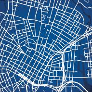 Yale Bulldogs Campus Map Print