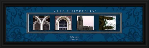 Yale Bulldogs Personalized Campus Letter Art