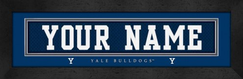Yale Bulldogs Personalized Stitched Jersey Print