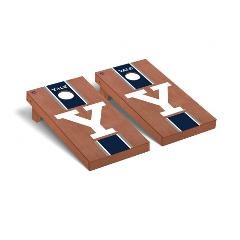 Yale Bulldogs Rosewood Stained Cornhole Game Set