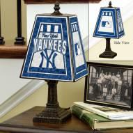 New York Yankees MLB Hand-Painted Art Glass Table Lamp