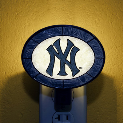 New York Yankees MLB Stained Glass Night Light