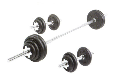York 110 lb Contour Cast Iron Spinlock Set