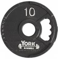 York 2 inch G2 Olympic Dual Grip Thin Line Steel Plate - 10 lb