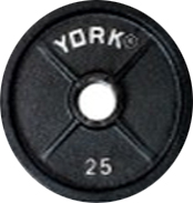 York 2 inch International Olympic Plate - 25 lb