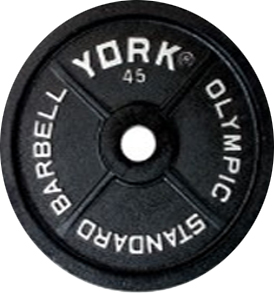 York 2 inch International Olympic Plate - 45 lb