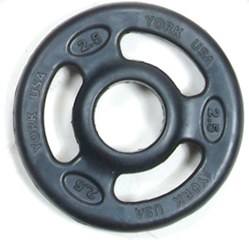York 2 inch ISO-Grip Rubber Encased Steel Composite Olympic Plate - 2.5 lb
