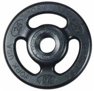 York 2 inch ISO-Grip Steel Composite Olympic Plate - 25 lb