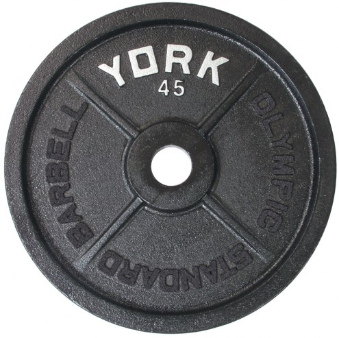 York 2 inch Legacy Cast Iron Olympic Plate - 35 lb
