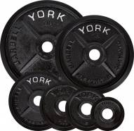 York 2 inch Legacy Cast Iron Precision Milled Olympic Weight Plate