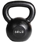 York 60 lb Single Kettlebell