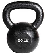 York 80 lb Single Kettlebell