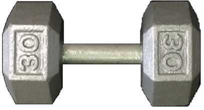 York Cast Iron Hex Dumbbell - 75 lbs.