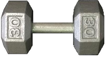 York Cast Iron Hex Dumbbell - 80 lbs.
