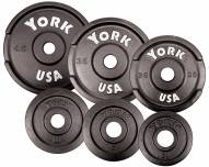 York Cast Iron Olympic Pick Up Plates