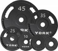 York 2 inch G2 Olympic Dual Grip Thin Line Steel Plate