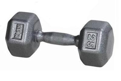 York Iron Pro Hex 25 Lb Dumbbell