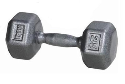 York Iron Pro Hex 25 Lb Dumbbell