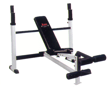 York Olympic Combo Weight Bench with Leg Developer