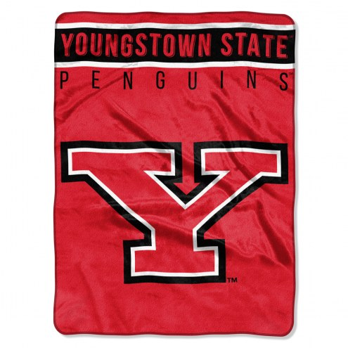 Youngstown State Penguins Basic Plush Raschel Blanket