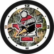 Youngstown State Penguins Camo Wall Clock
