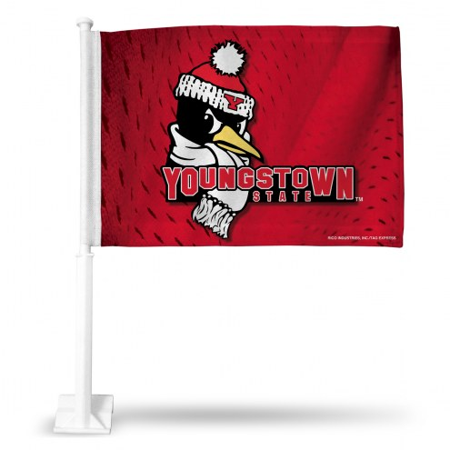 Youngstown State Penguins College Car Flag