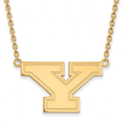 Youngstown State Penguins Sterling Silver Gold Plated Large Pendant Necklace