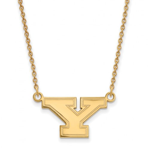 Youngstown State Penguins Sterling Silver Gold Plated Small Pendant Necklace