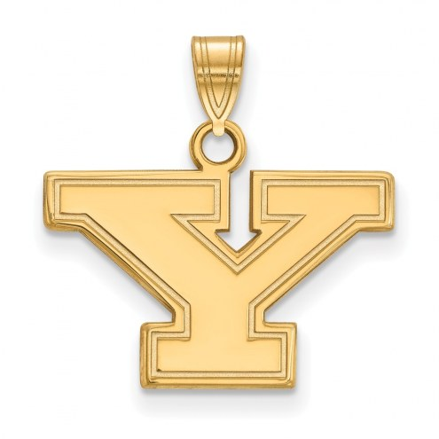Youngstown State Penguins NCAA Sterling Silver Gold Plated Small Pendant