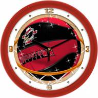 Youngstown State Penguins Slam Dunk Wall Clock