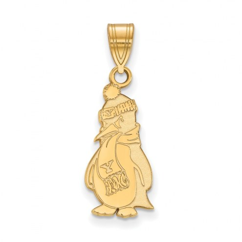 Youngstown State Penguins Sterling Silver Gold Plated Large Pendant