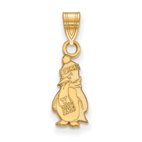 Youngstown State Penguins Sterling Silver Gold Plated Small Pendant