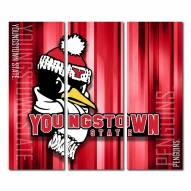 Youngstown State Penguins Triptych Rush Canvas Wall Art